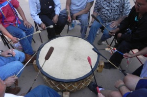 Drumming at street festival in Santa Fe