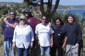Ken & Anita with the guys a Navajo Dam.