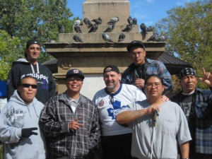 Ken with the men at a street festival in Santa Fe.